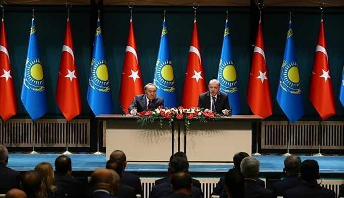 Erdoğan-Nazarbayev ortak basın toplantısı: FETÖ ile mücadele konusunda fikri alışveriş yapıldı
