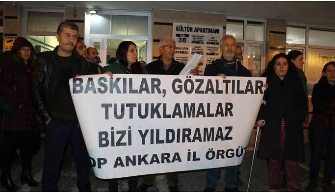 Ankara'da açıklamaya polis müdahalesi