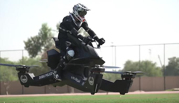 Dubai polisi, uçan motosikletli birim için harekete geçti: 2020 yılında aktif göreve başlayacaklar