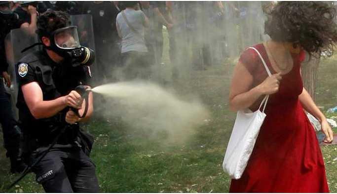 Gaz sıkma talimatı veren Emekli hakkında yakalama kararı