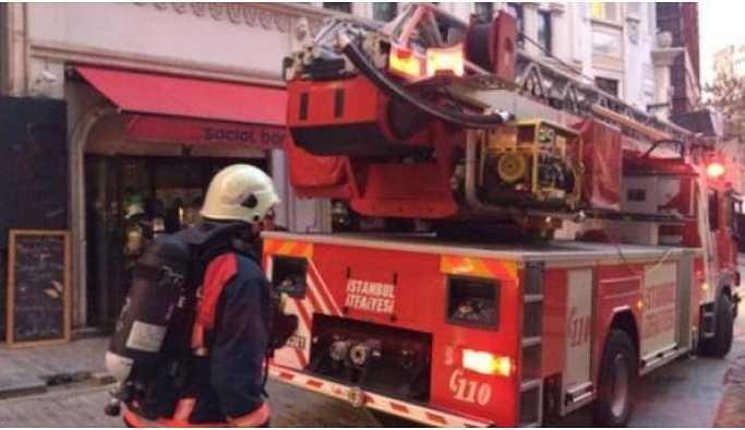 9 katlı otelde yangın çıktı