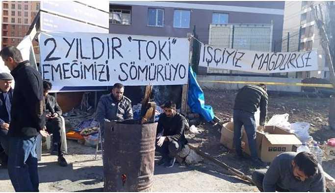 Çadırlarını kurmak isteyen işçilere müdahale: 10 kişi gözaltına alındı