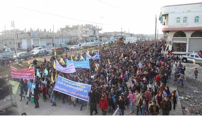Erdoğan'ın operasyon açıklaması Kuzey Suriye kentlerinde protesto edildi