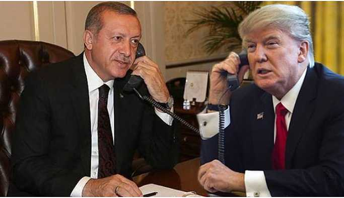Erdoğan Trump'la görüştü