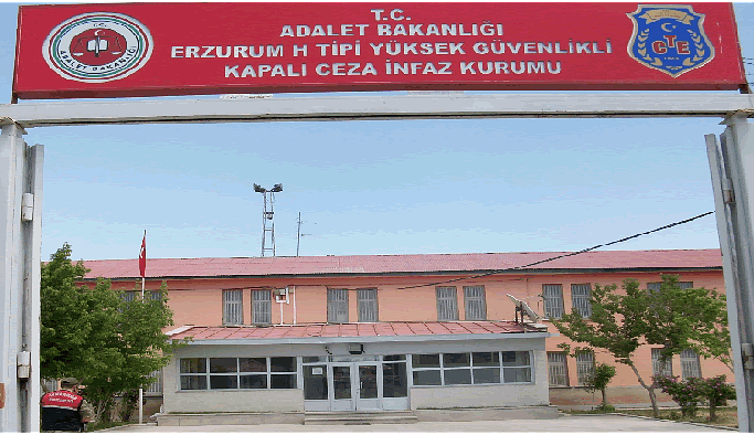 Erzurum H Tipi Kapalı Cezaevi'nde 3 tutuklu hücrede tutuluyor