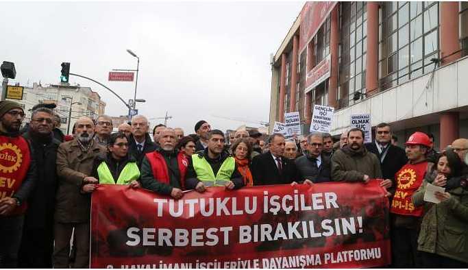 Havaalanı işçilerin duruşması başladı: Basın ve aileler salona alınmadı