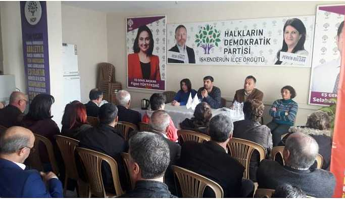 HDP'den İskenderun'da halk buluşması