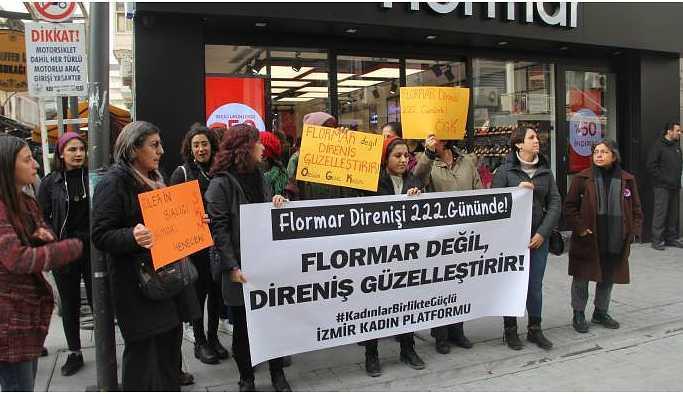İzmirli kadınlardan Flormar işçilerine destek