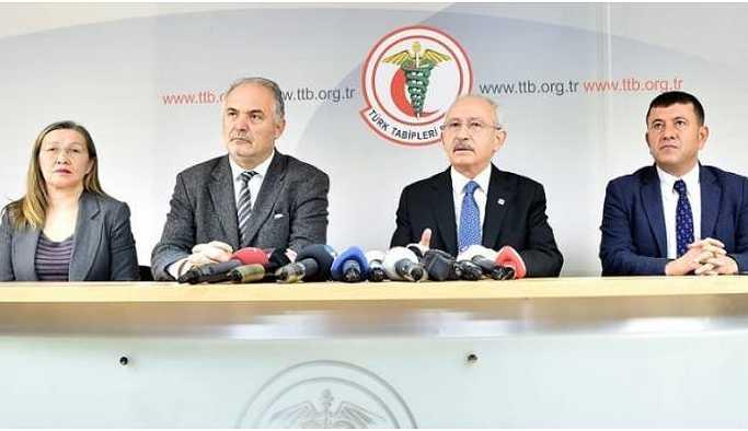 Kılıçdaroğlu'ndan TTB'ye ziyaret: Savaş bir sağlık sorunudur