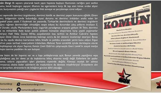 Yeni yıla yeni yayın: Komün Dergi