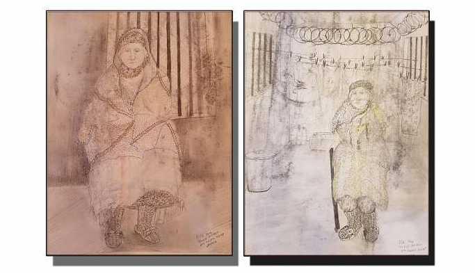 Zehra Doğan hasta tutuklu Sise Bingöl'ü çizdi