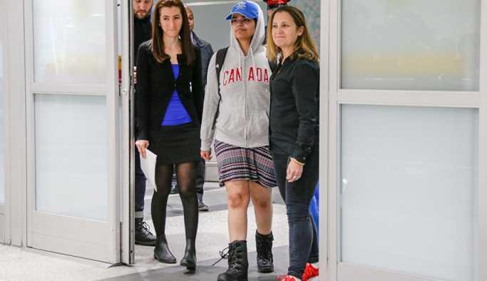 Ailesinden kaçan ve mülteci statüsü alan Suudi kadın Kanada'da