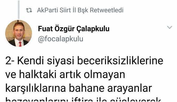 AKP'nin Siirt adayı HDP'li Beştaş hakkında suç duyurusunda bulunacak