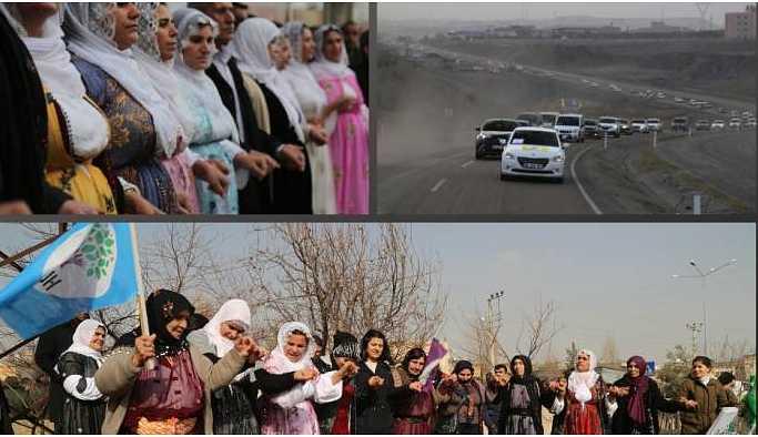 HDP'nin Şırnak eşbaşkan adaylarına coşkulu karşılama