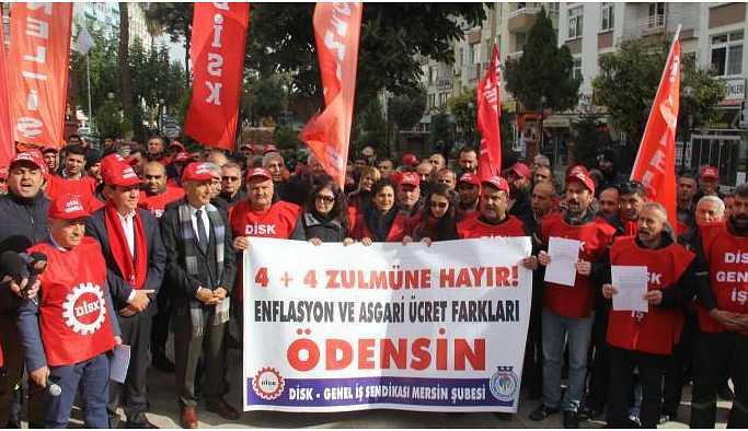 İşçiler haklarının gasp edilmesini protesto etti