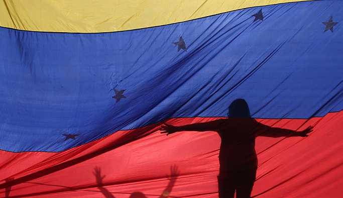 İstanbul'da Venezüella'yla dayanışma eylemi
