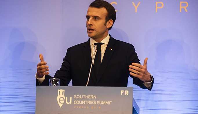 Macron'dan Kıbrıs'a doğal gaz desteği: Endişelerimi Erdoğan'a ilettim