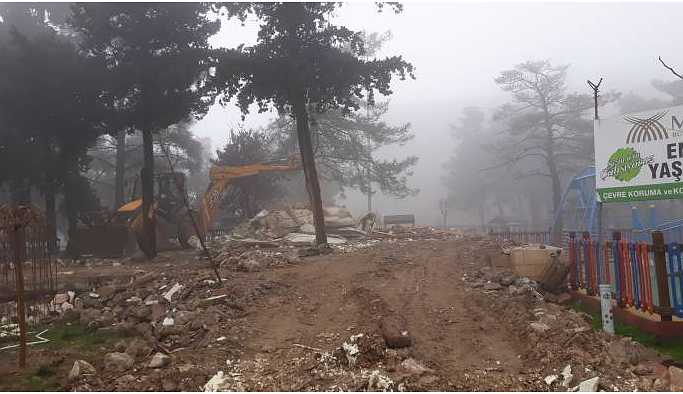 Mardin'in tek yeşil alanındaki yıkım Meclis gündeminde