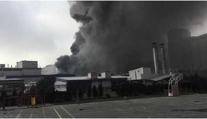 Merter'de fabrika yangını