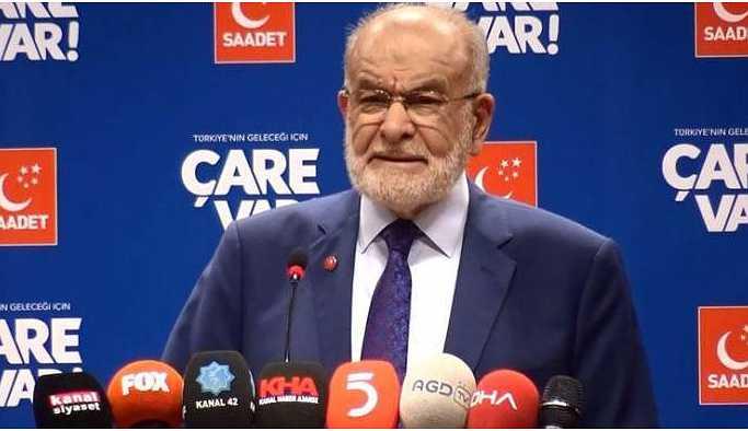Saadet Partisi liderinden Binali Yıldırım'a istifa çağrısı