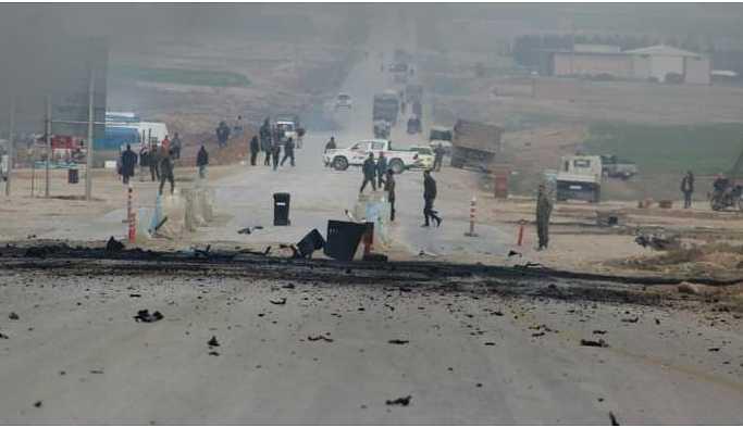 Şedadê'de güvenlik noktasına saldırı