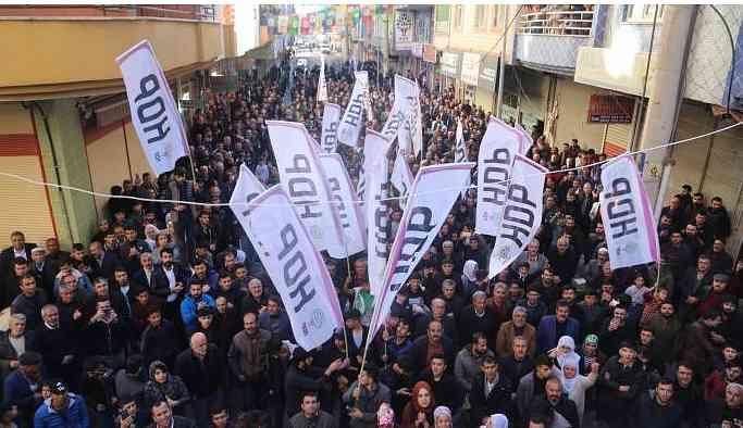 Bismil'de HDP'ye coşkulu karşılama