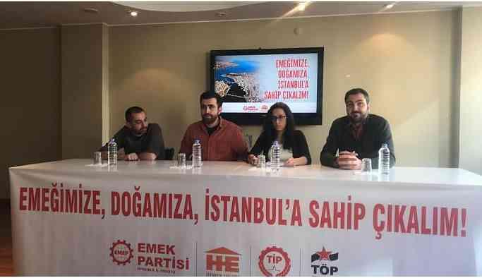 EMEP, Halkevleri, TİP ve TÖPG İstanbul'da ortak hareket edecek