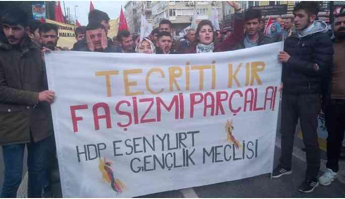 Halklar tecride karşı Bakırköy'e yürüyor