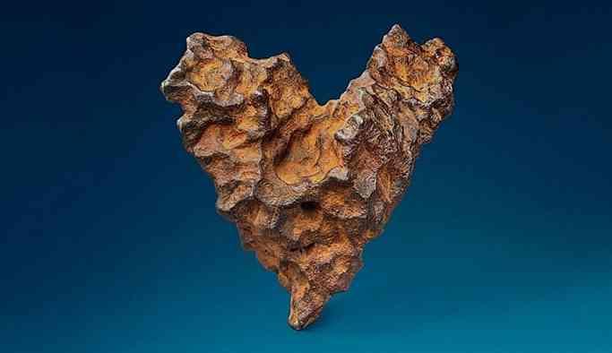 Kalp şeklinde meteor sevgililer günü için satışa çıkacak