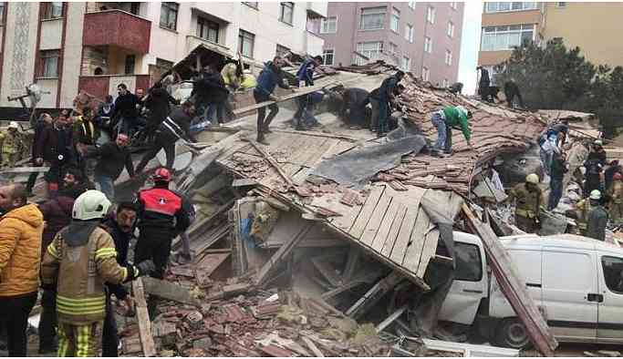 Kartal'da çöken binayla ilgili soruşturma sürüyor