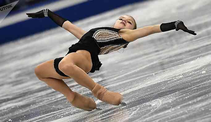 Rus artistik patinajcı Trusova, ulusal şampiyonada birinci oldu: Gayriresmi dünya rekoru da 'cepte'