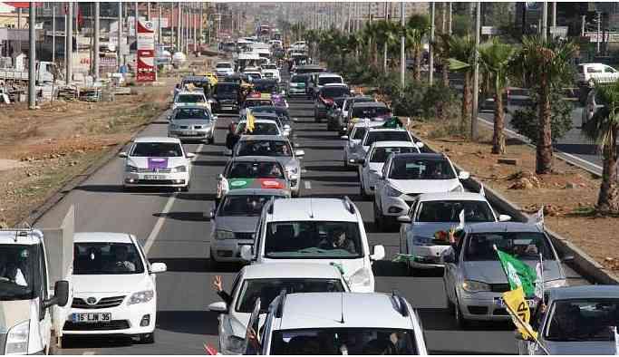 Diyarbakır'da araç konvoyuna 'güvenlik' gerekçesile yasaklama