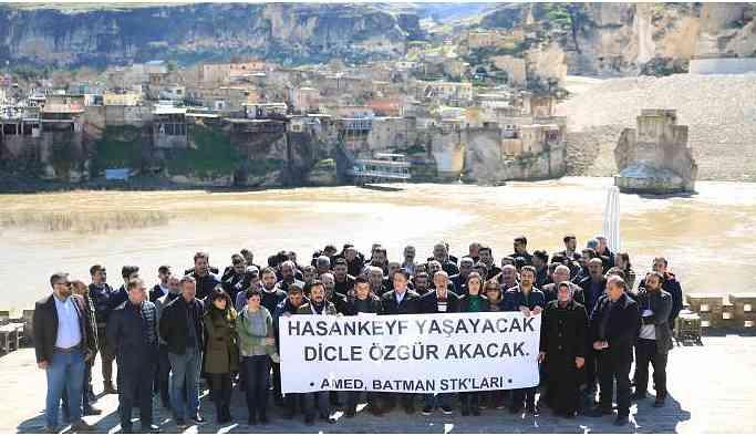 Hasankeyf'te AİHM'e tepki: Tarihi mirasın talan edilmesine göz yumulmuştur