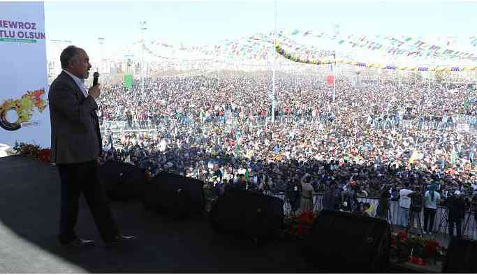 HDK Eş Sözcüsü Şenoğlu: Bu meydanlar Öcalan'ın sesiyle yankılanacak