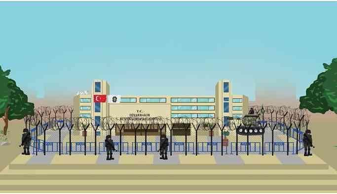 HDP'den 'kayyum' animasyonları
