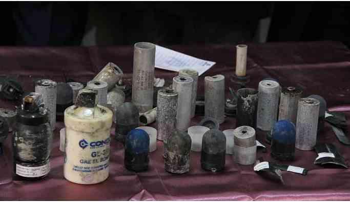 Kirman Deresi'nde gaz bombaları bulundu