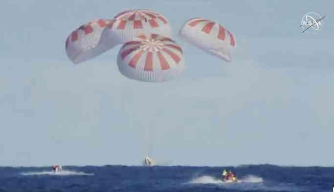 SpaceX Dragon, dünyaya döndü