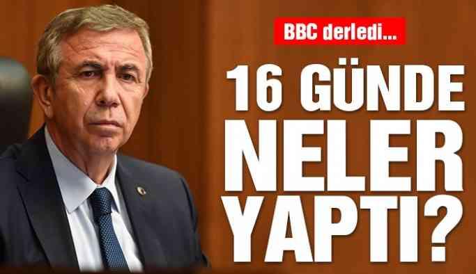 Ankara Büyükşehir Belediye Başkanı Mansur Yavaş mazbatasını aldıktan sonra neler yaptı