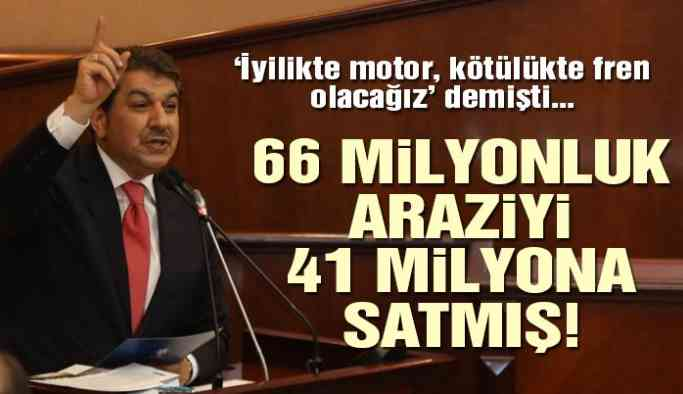Belediye 66 milyonluk arazisini 41 milyona satmış