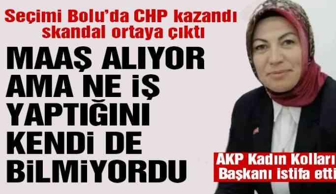 Belediyeden maaş alan AKP'li başkan istifa etti
