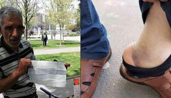 Polisten, dövülen seyyar satıcıya: Belki de kendin yaptın