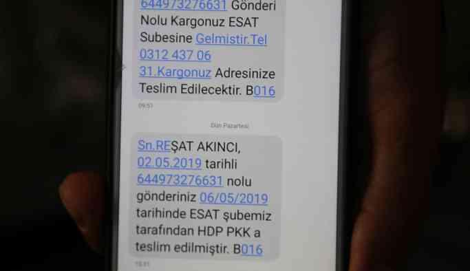 MNG Kargo'dan skandal mesaj: Gönderiniz HDP PKK'ya teslim edilmiştir