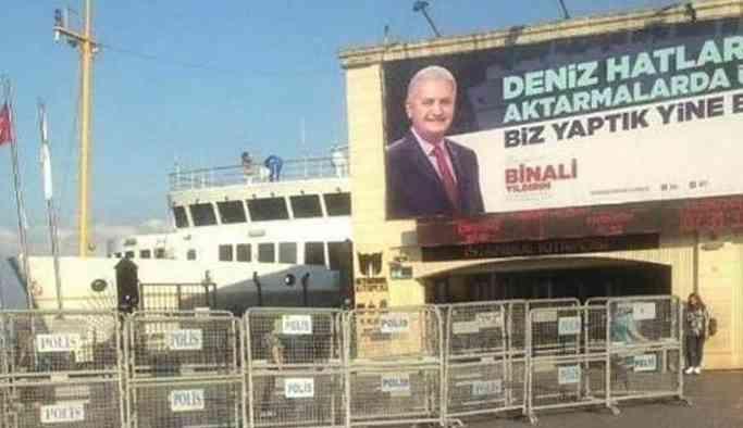 İlçe Seçim Kurulu'ndan Binali Yıldırım'a kötü haber! O pankart kaldırılacak