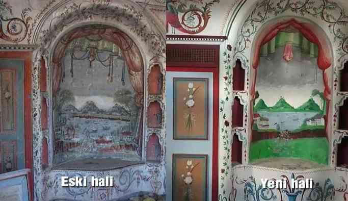 158 yıllık konağın eserleri üstün körü çizildi