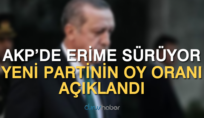 AKP'de erime sürüyor, yeni partinin oy oranı açıklandı