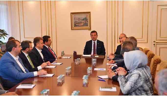 AKP'li belediye başkanlarından İmamoğlu'na ziyaret