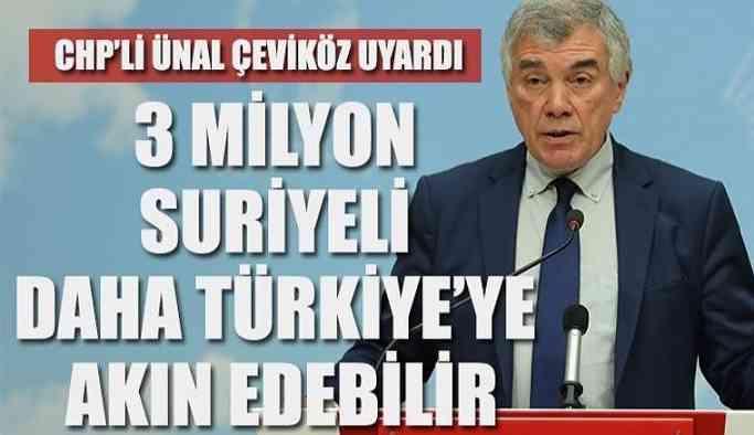 '3 milyon Suriyeli daha Türkiye'ye gelebilir'