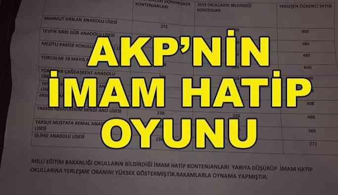 AKP'nin imam hatip oyunu
