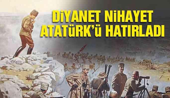 Diyanet Atatürk'ü hatırladı