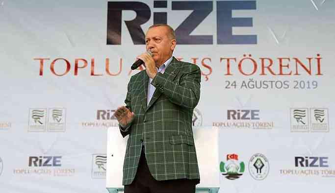 Erdoğan: İstanbul'u sel götürüyor beyefendi tatilde